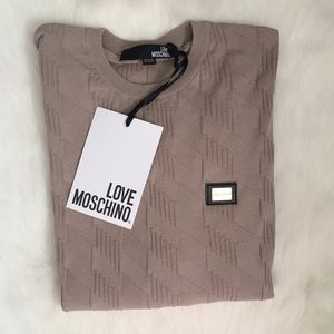 Love Moschino Men's Textured Crewneck Sweater NWT